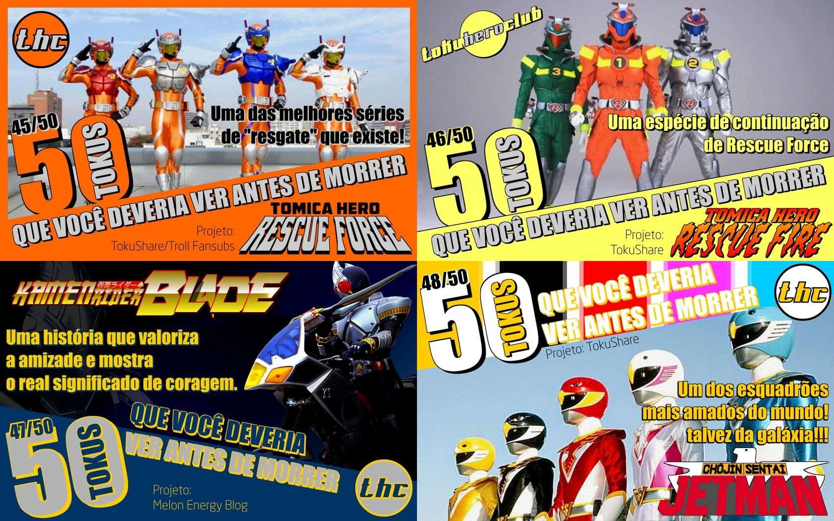 #50tokus >> RESCUE FORCE, RESCUE FIRE, KR BLADE E JETMAN